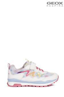 Geox Junior Girl's Pavel White/Multi Shoes
