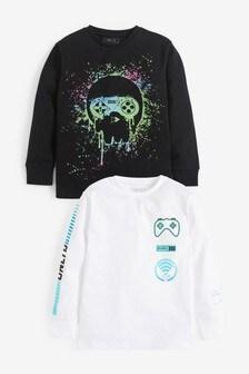 2 Pack Splat Skull T-Shirts (3-16yrs)
