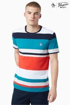 Original Penguin® Blue Bold Stripe T-Shirt