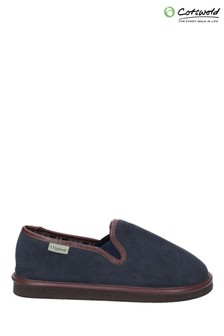 Cotswold Blue Barton Lightweight Classic Slippers