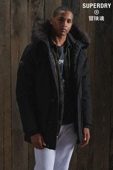 Superdry Black Rookie Down Parka