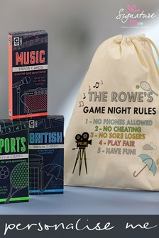 Personalised Games Night Gift by Signature Gifts