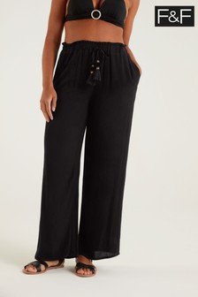 F&F Black Beach Trousers