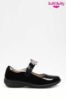 Lelli Kelly Black Patent Classic Unicorn Shoes