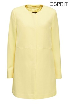 Esprit Yellow Woven Regular Coat