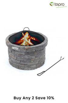 Gladstone Stone Effect Log Fireplace By Tepro