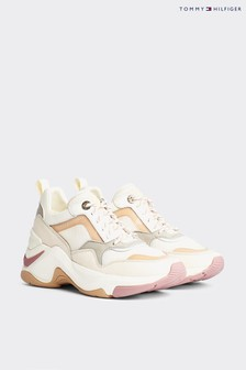 Tommy Hilfiger Nude Internal Wedge Chunky Trainers