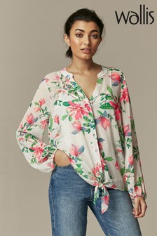 Wallis ivory Waterlily Floral Blouse
