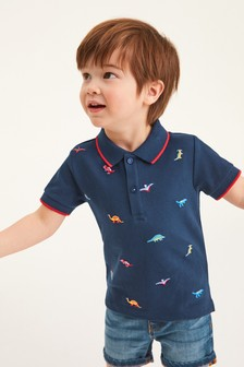 Short Sleeve Embroidery Jersey Poloshirt (3mths-7yrs)