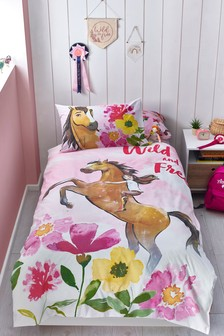 Spirit Riding Free Reversible Duvet Cover and Pillowcase Set