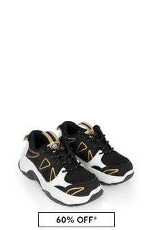 Girls Black/Gold Trainers