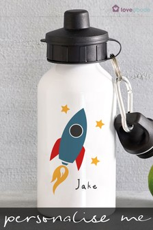 Personalised Rocket Drinks Bottle by Loveabode