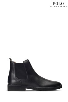 Polo Ralph Lauren Black Leather Talan Chelsea Boots