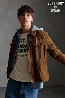 Superdry Canvas Hooded Hacienda Trucker Jacket