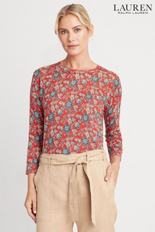 Lauren Ralph Lauren® Red Floral Lightweight Meggie Jumper