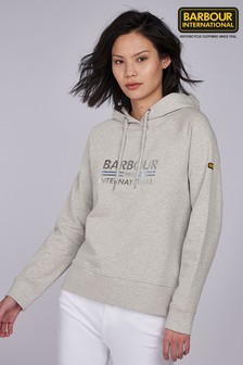 Barbour® International Grey Marl Metallic Logo Scorpion Sweatshirt