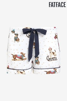 FatFace Natural Snow Dog Shorts