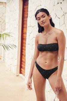 Stud Detail Bandeau Bikini Top