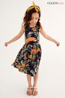 Oasis Jersey Frill Midi Dress
