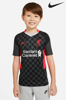 Nike Black Liverpool FC Third 20/21 Kids Football Shirt