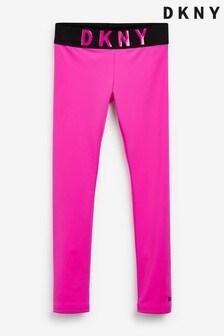 DKNY Pink Logo Leggings