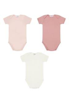 Bonpoint Baby Girls Pink Cotton Bodysuits Set
