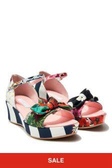 Dolce & Gabbana Kids Girls Multicoloured Sandals