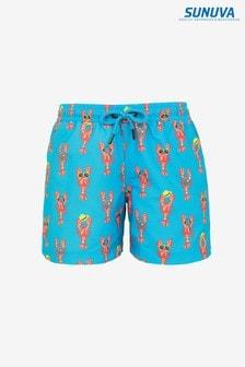 Sunuva Blue Lobster Swim Shorts