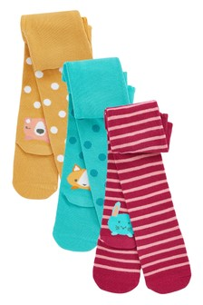 3 Pack Character Tights (0mths-2yrs)