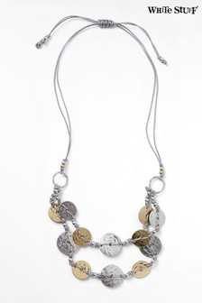 White Stuff Layered Coin Necklace