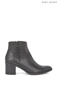 Mint Velvet Ottolie Black Boots