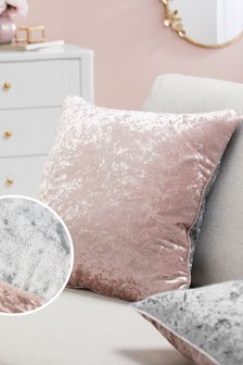 Twin Crushed Velvet Cushion