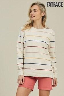 FatFace Blue Stripe Crew Sweater