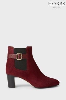 Hobbs Red Patricia Buckle Boots