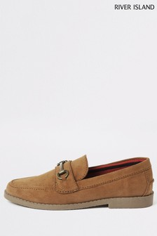 River Island Brown Light Snaffle Loafers