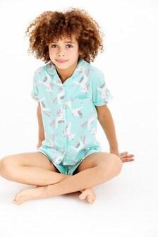 Unicorn Button Through Pyjamas (2-12yrs)
