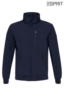 Esprit Blue Softshell Bomber Jacket