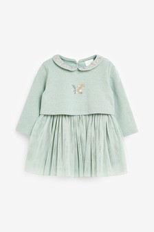 Embroidered Dress (0mths-2yrs)