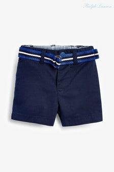 Ralph Lauren Navy Chino Shorts With Belt