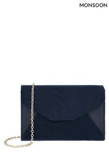 Monsoon Navy Misha Occasion Clutch Bag