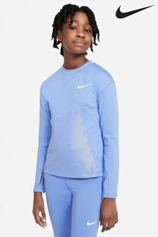 Nike Blue/Silver Shine Long Sleeve T-Shirt