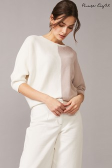 Phase Eight Neutral Krissy Colourblock Knit Jumper