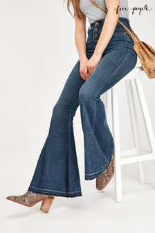 Free People Mid Wash Flare Jeans