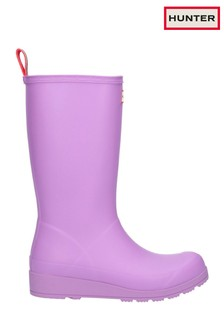 Hunter Purple Original Play Tall Wellington Boots