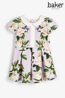 Baker by Ted Baker Girls Floral Collar Dress