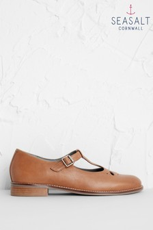 Seasalt Brown Wide Fit Penpoll Shoes