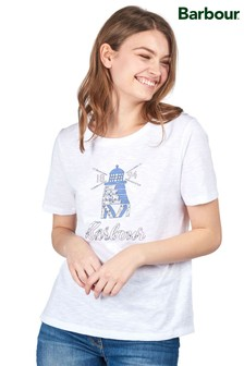 Barbour® Coastal White Windmill Logo Dover T-Shirt