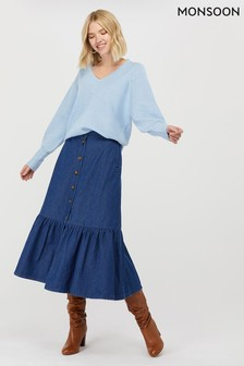 Monsoon Ladies Blue Tori Denim Skirt