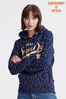 Superdry Real Originals Dot All Over Print Hoody