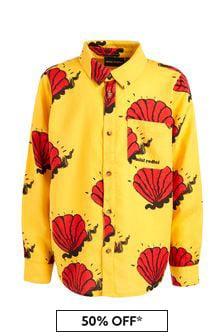 Mini Rodini Kids Yellow Shell Woven Shirt